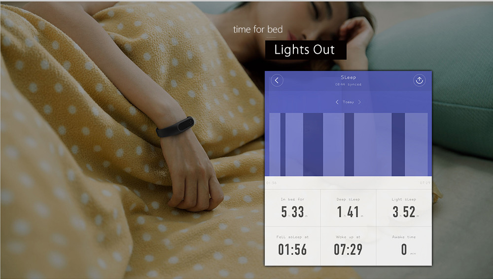 Mi-Band Version 2 - Heart Rate Monitor Activity Tracker - 2017 Winner of  Red Dot Design Award from En Vision