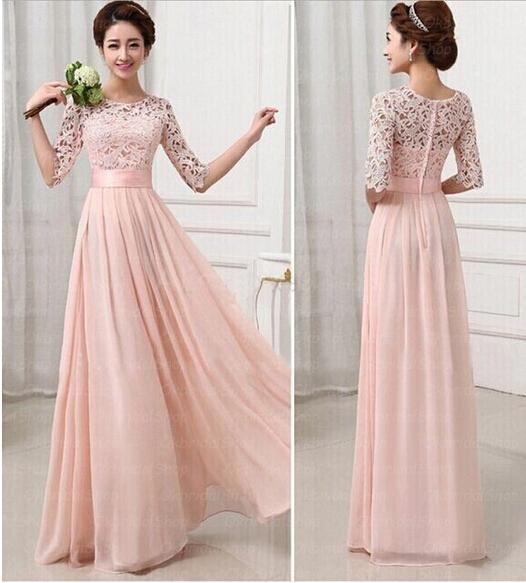 A202 Lace bridesmaid dresses, long sleeve bridesmaid dresses, long ...