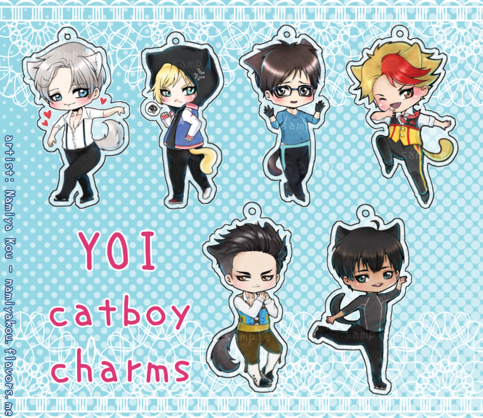 Yuri On Ice Catboy Charms On Storenvy