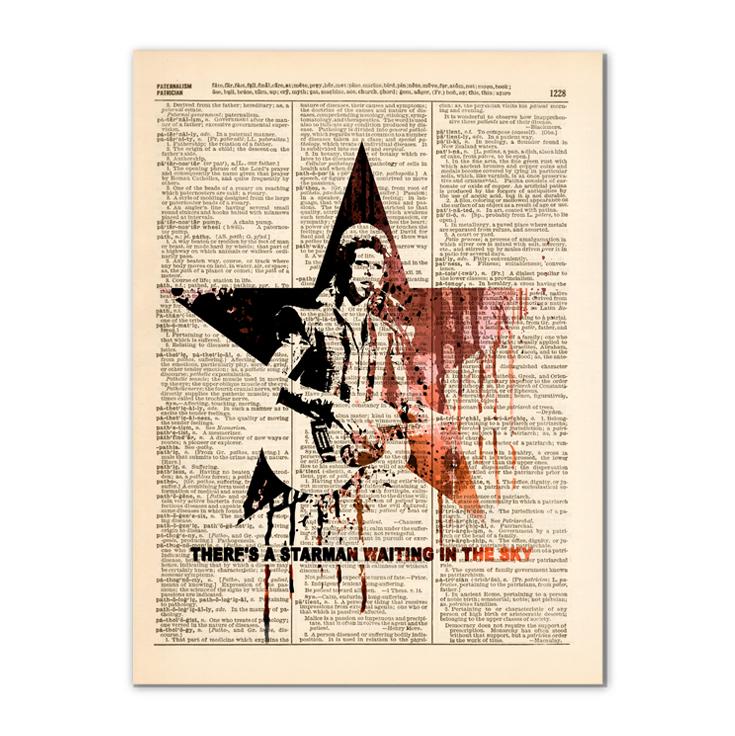 Dictionary Art print - DAVID BOWIE, rock music Legend art 0394 · ART ...