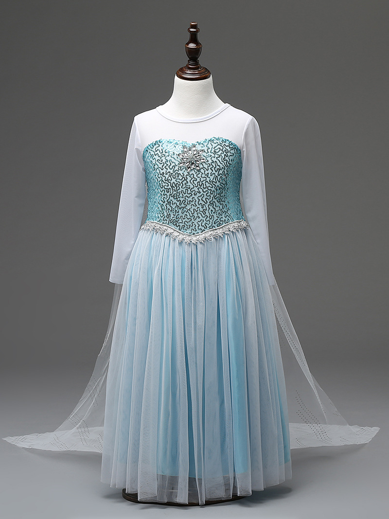 346464726eeb0 Disney Frozen Inspired Lace Elsa Costume Dress, Baby Girls Toddlers  Princess Anna Party Dresses #Z0109 from kidscollections