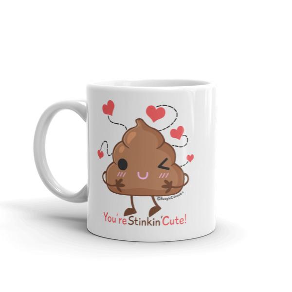 Kawaii Poop Mug Funny Mug Kawaii Mug Humor Mug Gift For Her