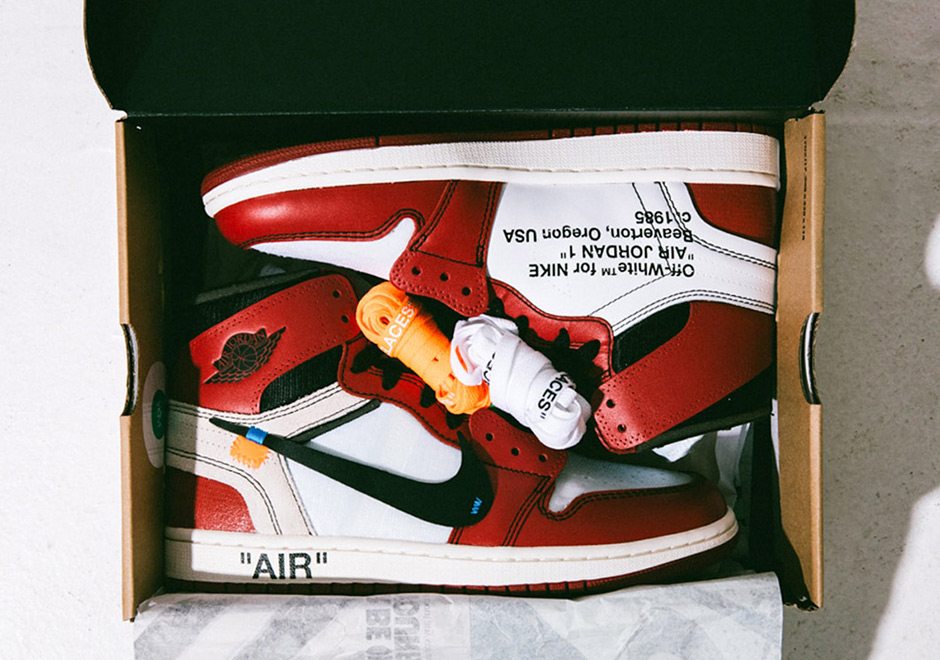 34983a6d053f OFF-WHITE X AIR JORDAN 1 HIGH WHITE BLACK-VARSITY RED STYLE CODE ...