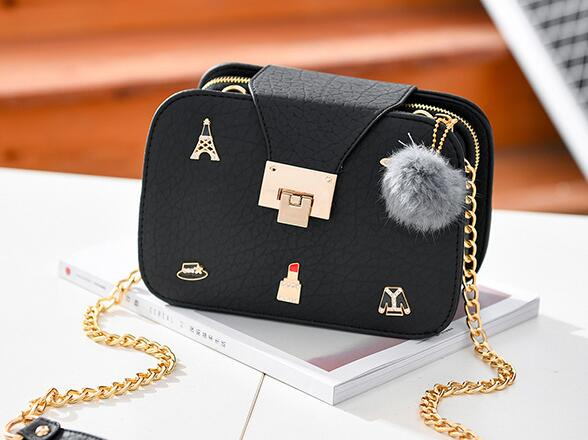 best sell nice shoes new design Cute Women Crossbody Mini Shoulder Bag Girls Chain Messenger Bag Ladies  Small Handbags Purse - Black+Free shipping sold by Fashion Bags Shop