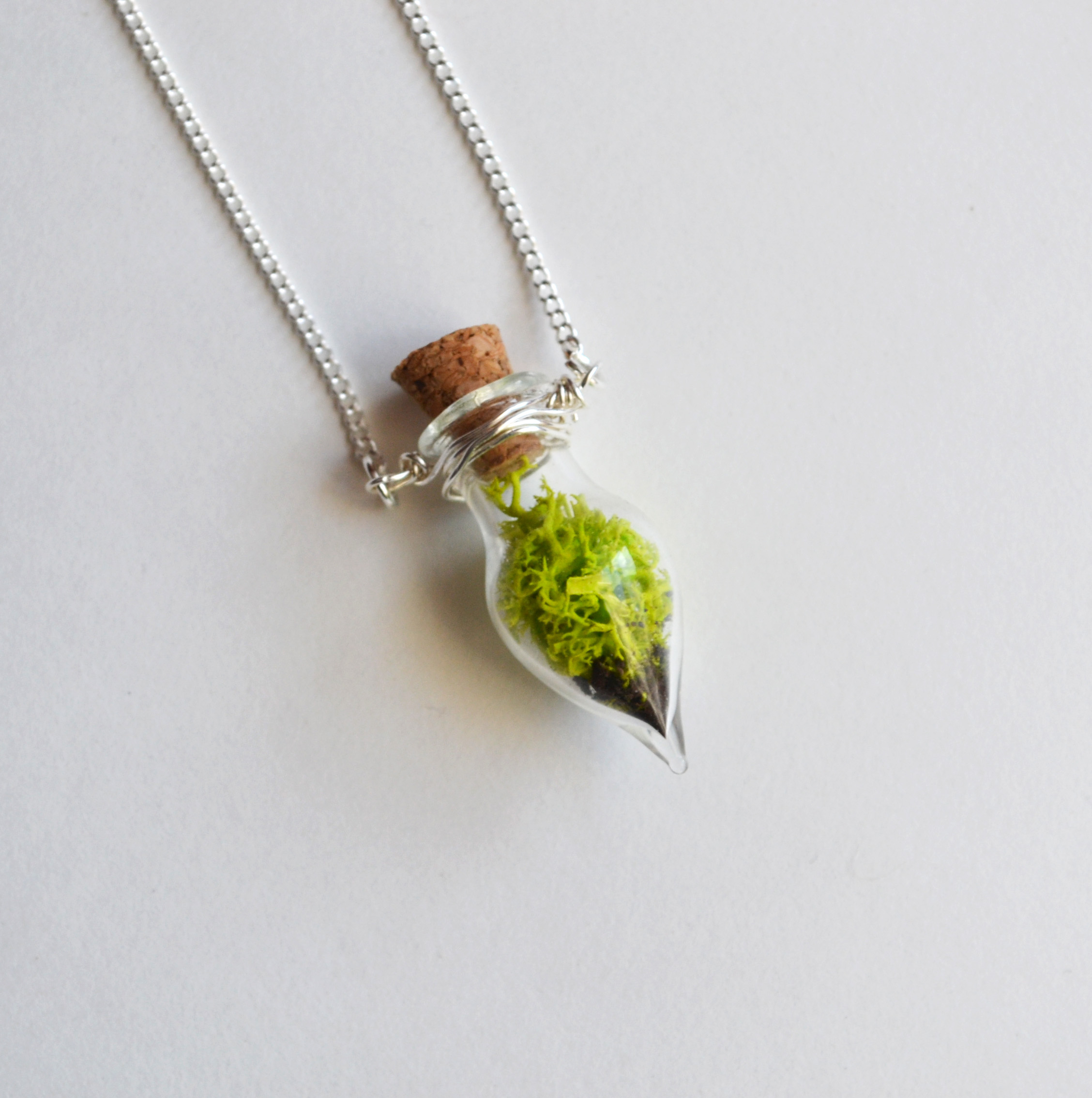 Moss Necklace Spring Jewelry Glass Terrarium Necklace Miniature Terrarium Botanical Jewelry Moss Jewelry Plant Jewelry Live Plant Fauna And Forest Online Store Powered By Storenvy