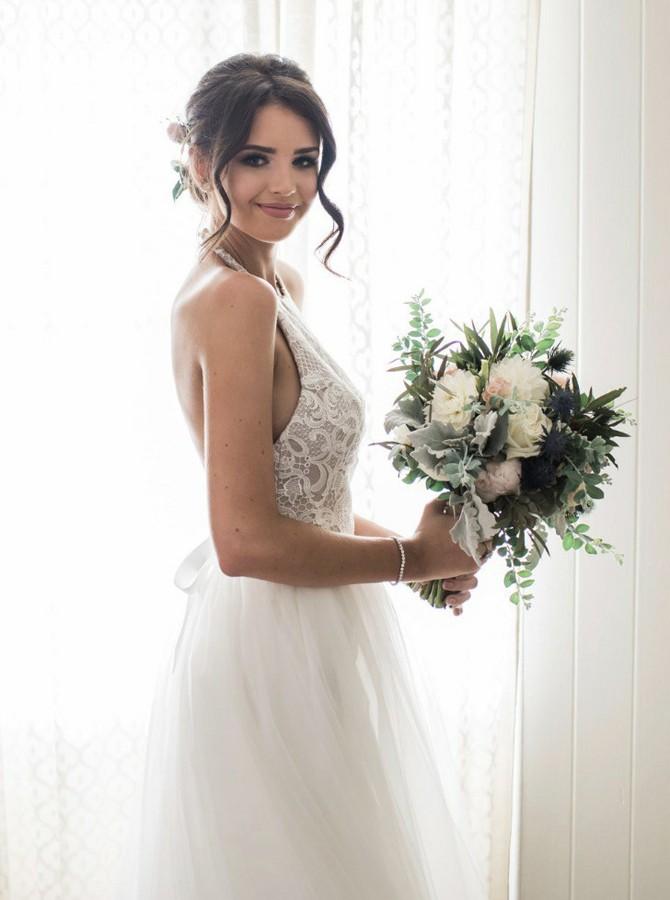 Backless Halter Beach Wedding Dress Bridal Gowns · dressydances ...