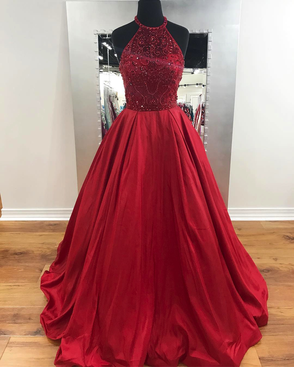 Cheap Prom Dresses by SweetheartDress · Unique wine red long beaded ...