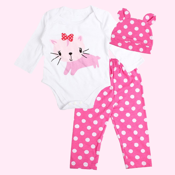 dc190bc5683 Polka Dot Cat Clothes Set
