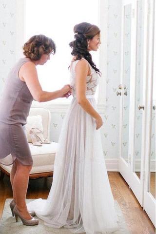 Beach Wedding Dress Long Wedding Dress Affordable Wedding Dress Tulle Wedding Dress Popular Wedding Dress Pd15020 From Yesdress