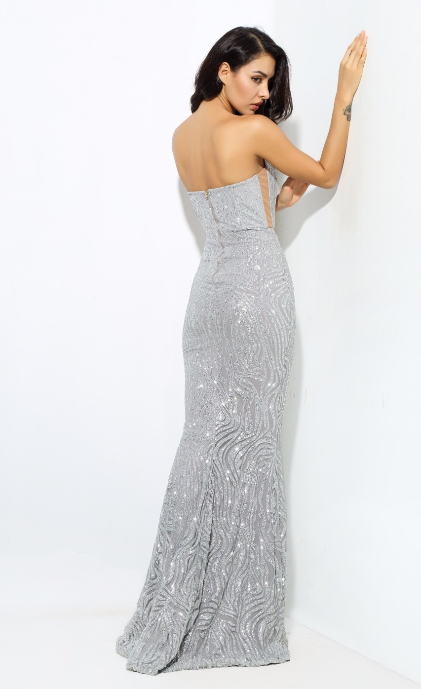 Silver Sequin Evening Dress on Storenvy