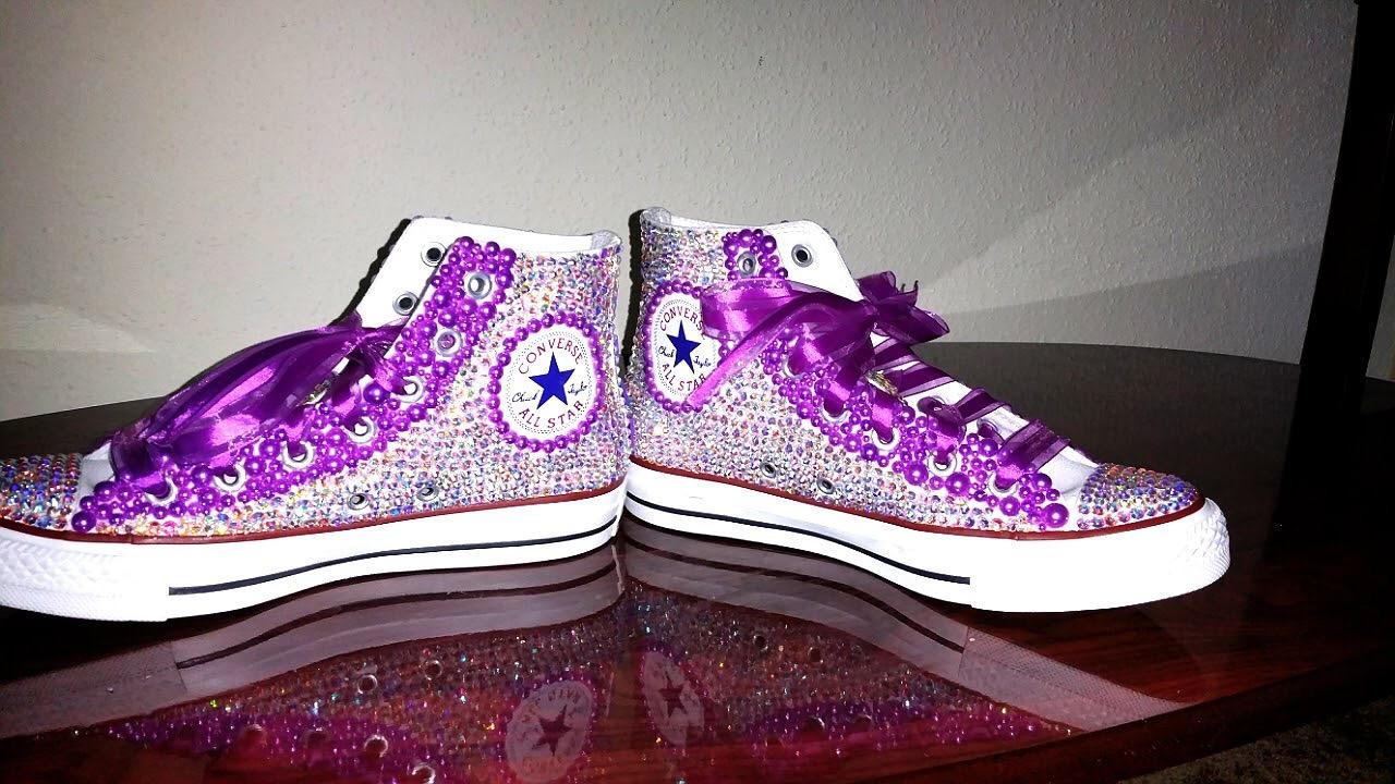 fddcfd00baa5b4 ... Adult Rhinestone Converse Shoes