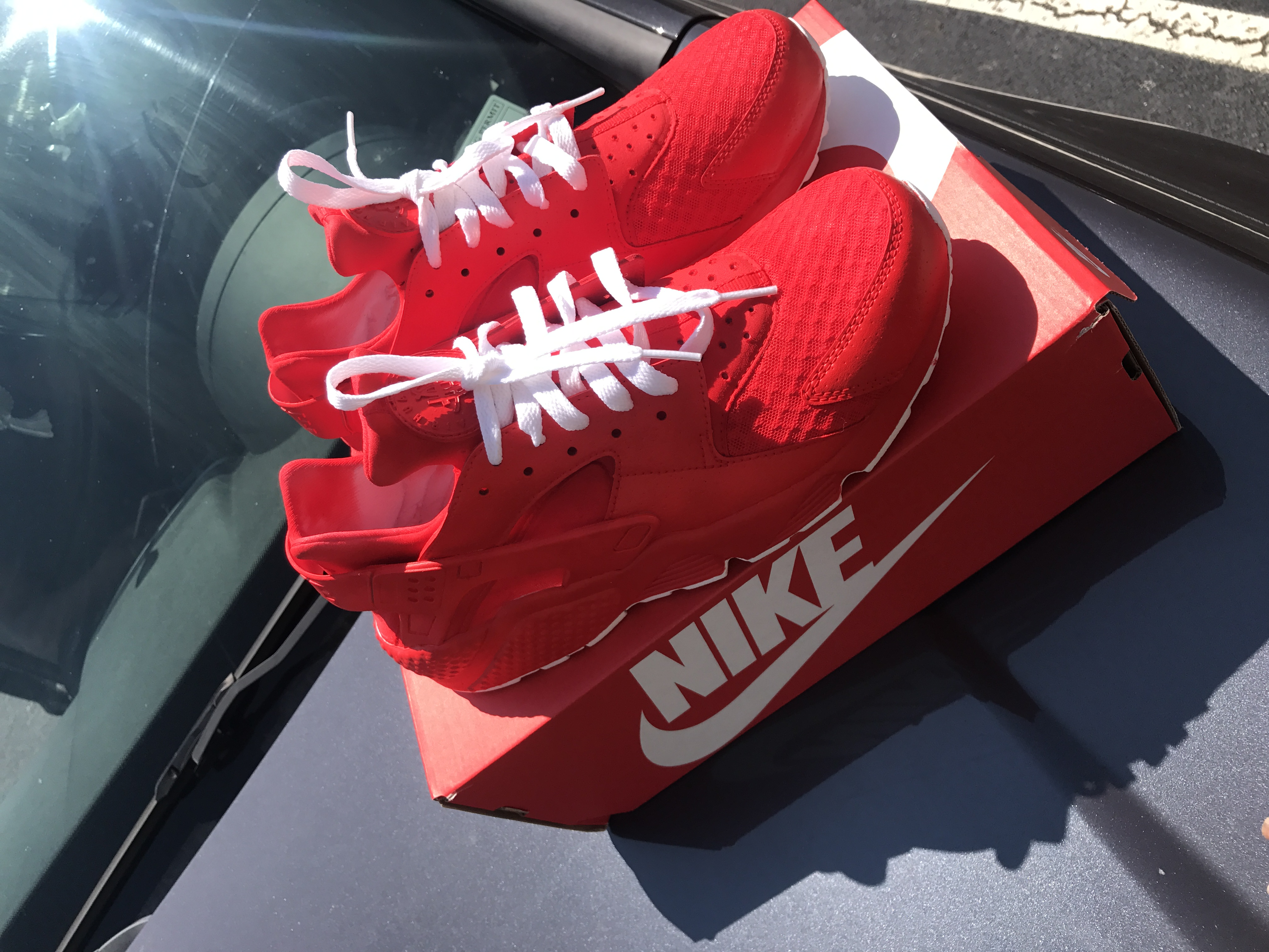 red huaraches custom