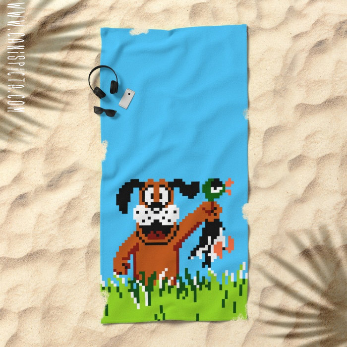 Duck Hunt Towel Video Game Bath Beach Terry Hand Bathroom Decor Gift