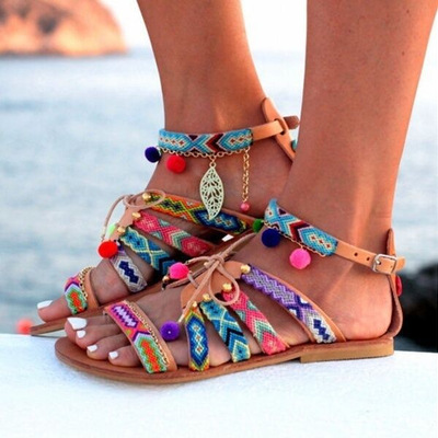 Cute mia fish mouth famous wind flat sandals