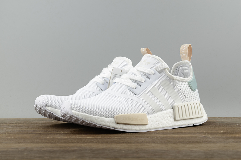 wholesale dealer ce7b0 3c92d Fashion Adidas NMD R1 Boost runner white green shoes on Storenvy
