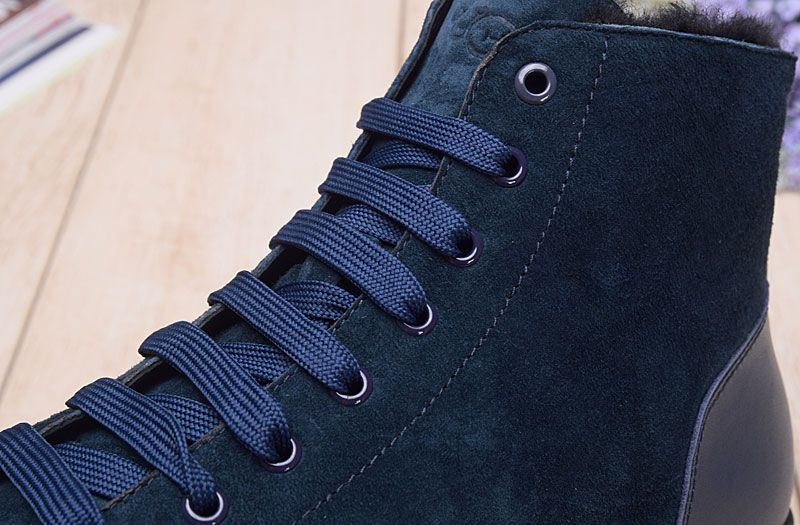4306957683a Fashion high suede men's boots casual shoes navy blue from supplier