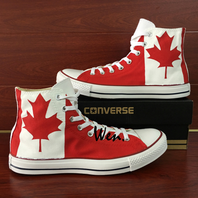 5dd4d3147bc8 Canada Flag Maple Leaf Design Custom Converse All Star Hand Painted Canvas Shoes  Men Women Unique Gifts on Storenvy