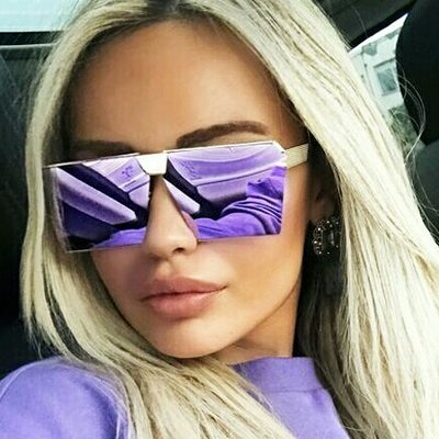 d6bdd286127 Flat top square sunglasses women big metal shades high quality oculos  oversized uv400 protection reflective lens