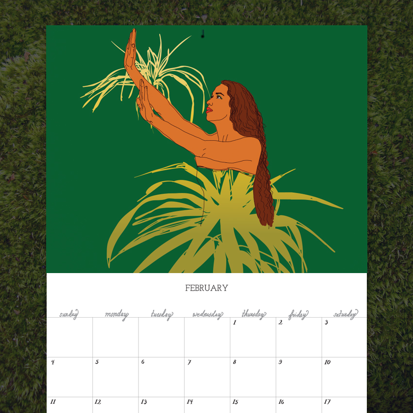 2018 Native Hawaii Calendar Laurie Sumiye Studio Online Shop