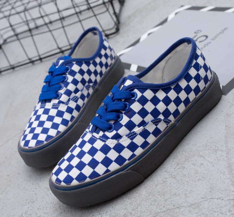 94661b96de FREE DHL SHIPPING VINTAGE BLUE CHECKER SNEAKERS on Storenvy