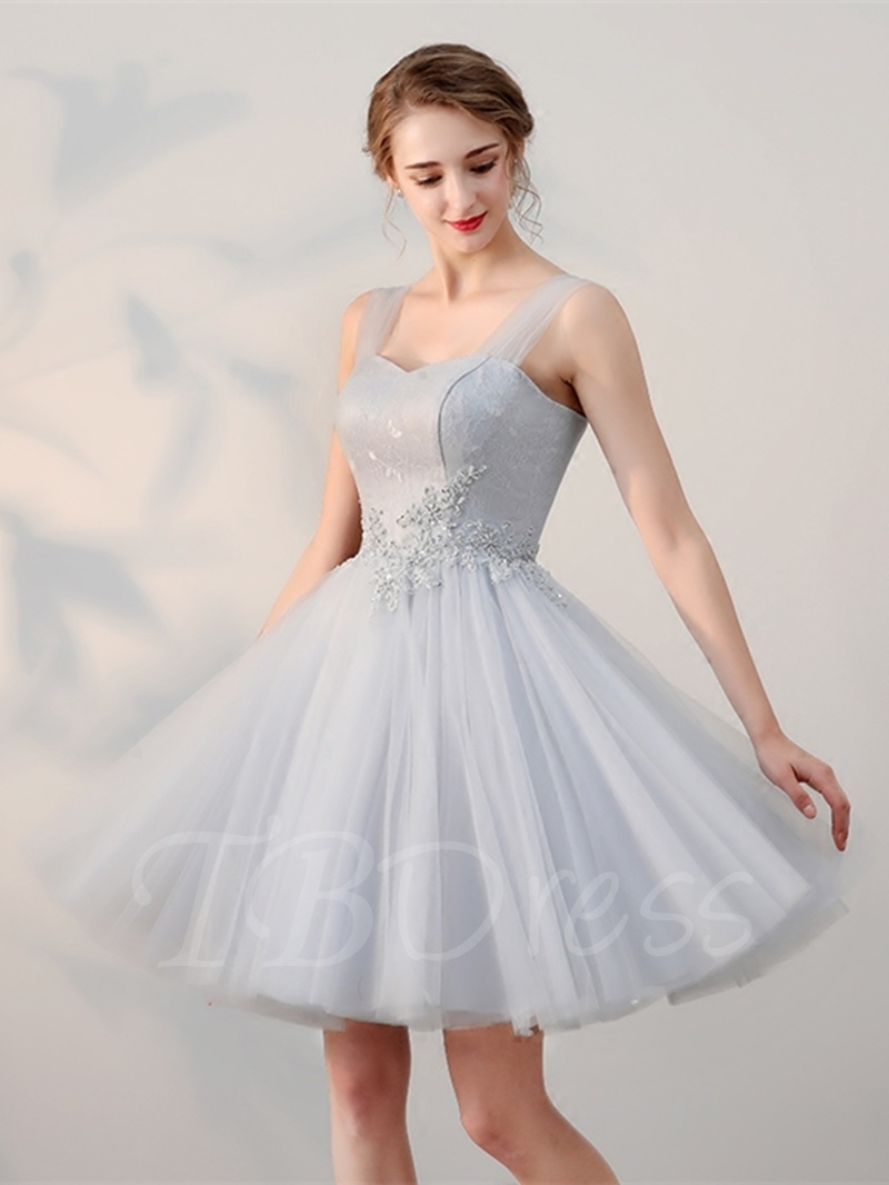 7df0076a18 W261 A-Line Appliques Beading Lace Straps Short Homecoming Dress ...