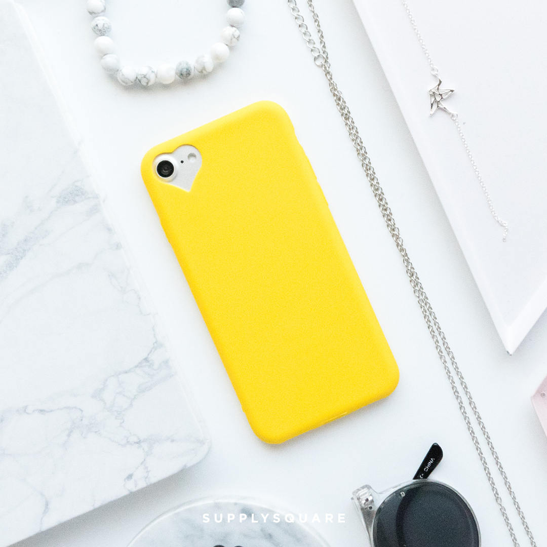 quality design d2790 b8041 Yellow Heart iPhone Case iPhone 8 Case iPhone 8 Plus Case iPhone 7 Case  iPhone 7 Plus Case iPhone 6s Case iPhone 6s Plus Case Matte Yellow