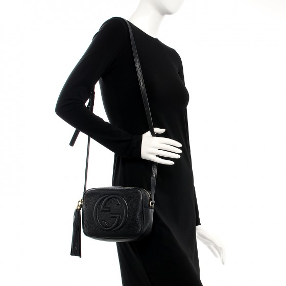 b0e6bbb62 Gucci pebbled calfskin small soho disco bag black 10 small