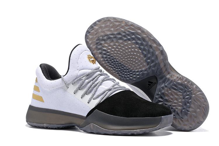 new concept c429f 0b9ab Fashion Adidas Harden Vol.1 Basketball Shoes Black white Men s Sport Shoes  BW0545