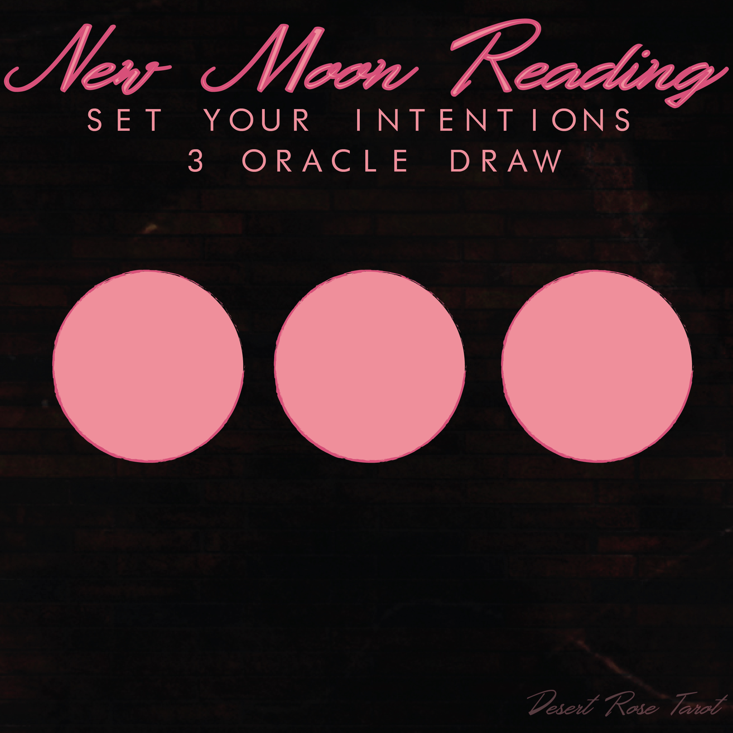 New Moon Oracle Reading from The Desert Rose