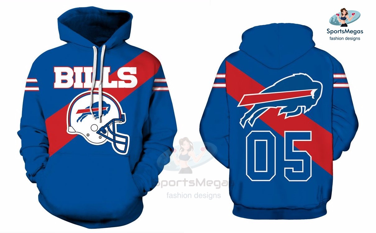 premium selection 77420 539ad Buffalo Bills NFL Football Team Hoodie from SportsMegas