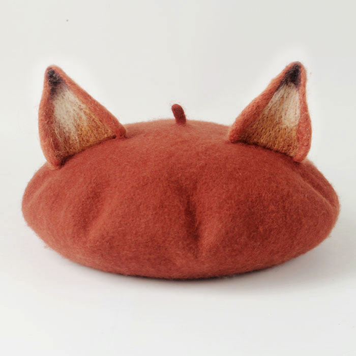 Cute Fox Ear Artist Beret Hat Woollen Handmade on Storenvy 2b5e4217b14