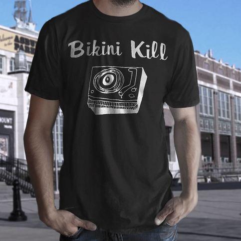 Bikini Kill T Shirt Screen Print Short Sleeve Black Olympa
