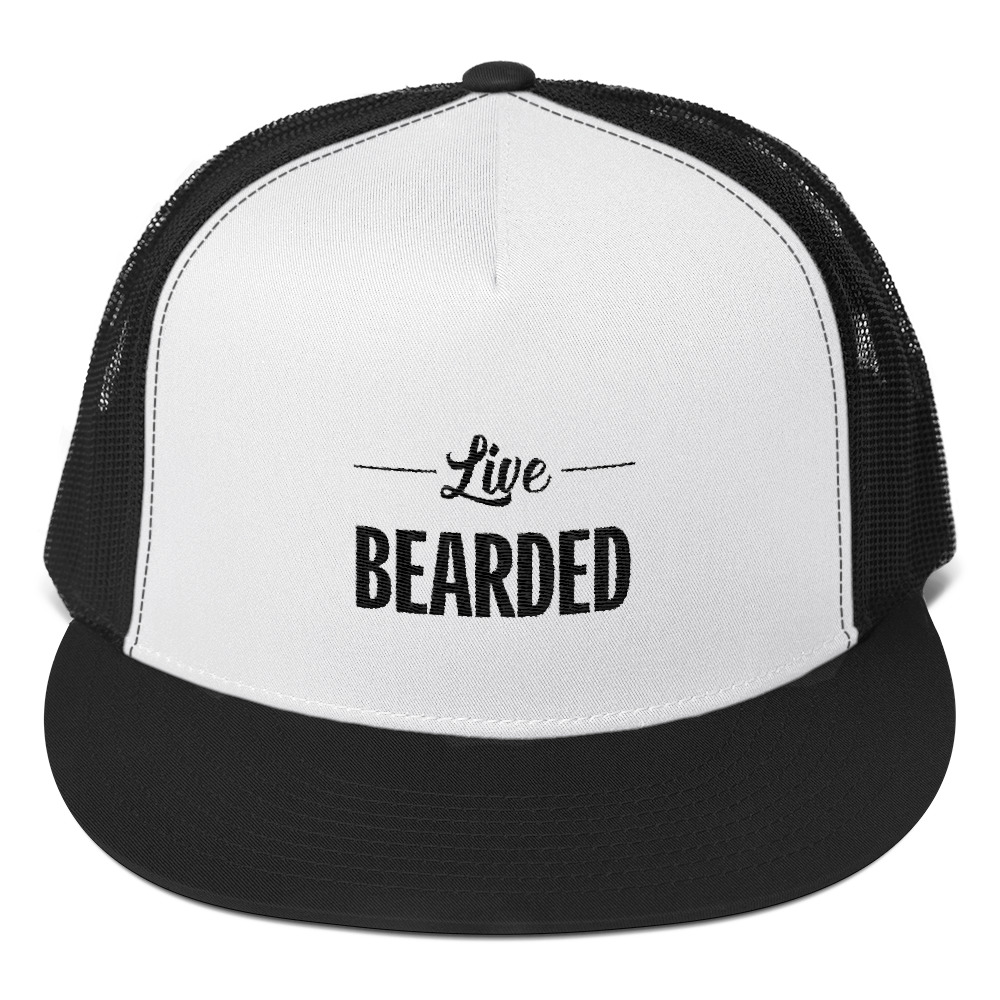 11709f46db6 Live Bearded Beard Man Men s Trucker Cap on Storenvy