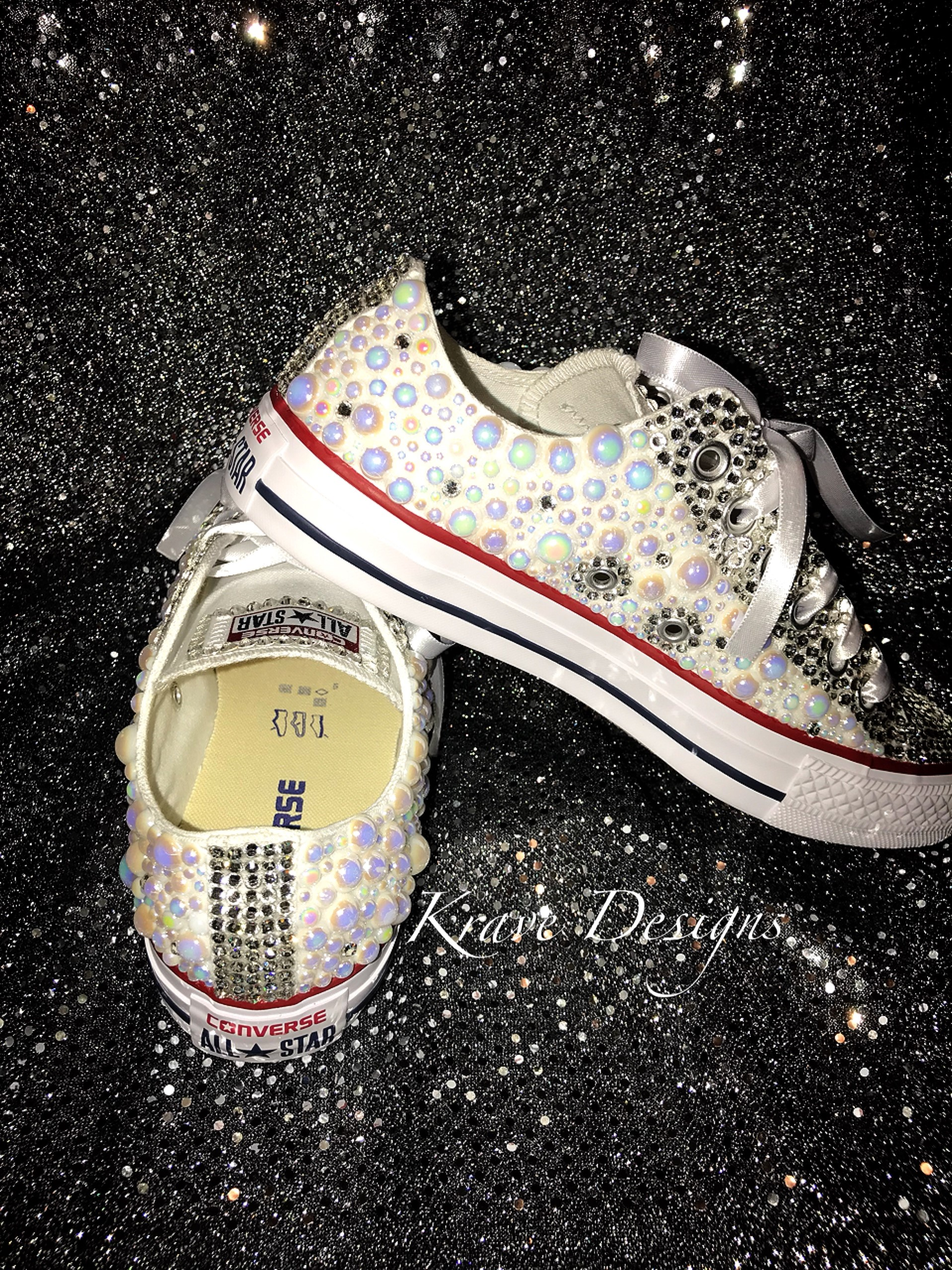 8c8d28a79d27 ... Adult Bling Chuck Taylor Lo-Top Shoes