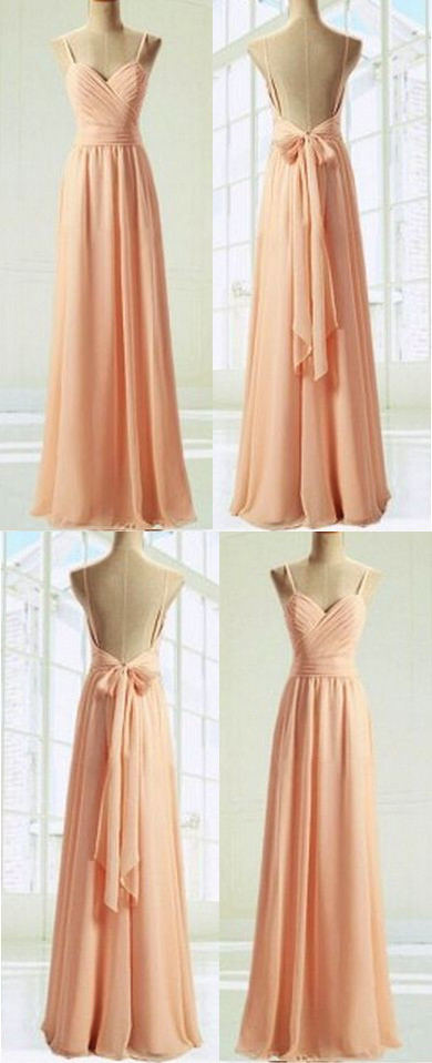 1f83c2497f2 Spaghetti Backless Bowknot Maxi Sexy Party prom dress new style fashion evening  gowns for teens girls