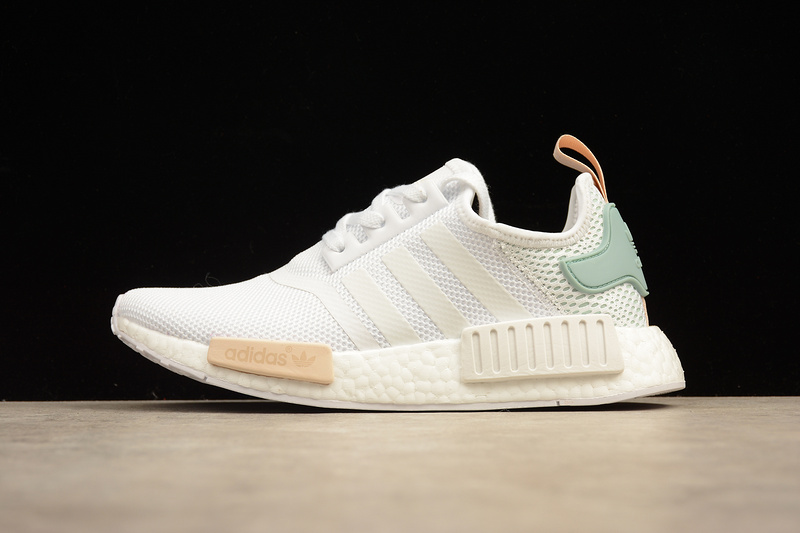 aa9dd8b801374 ... Adidas NMD Boost R1 mint white runner shoes BY3033 - Thumbnail 3 ...