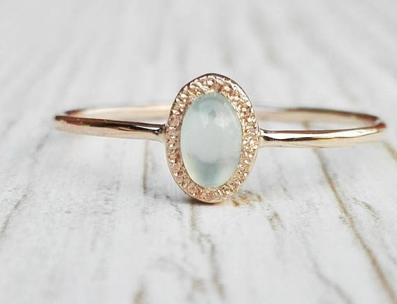 solid sterling silver ring Grey Chalcedony ring Grey Chalcedony Faceted ring handmade ring gemstone ring A582