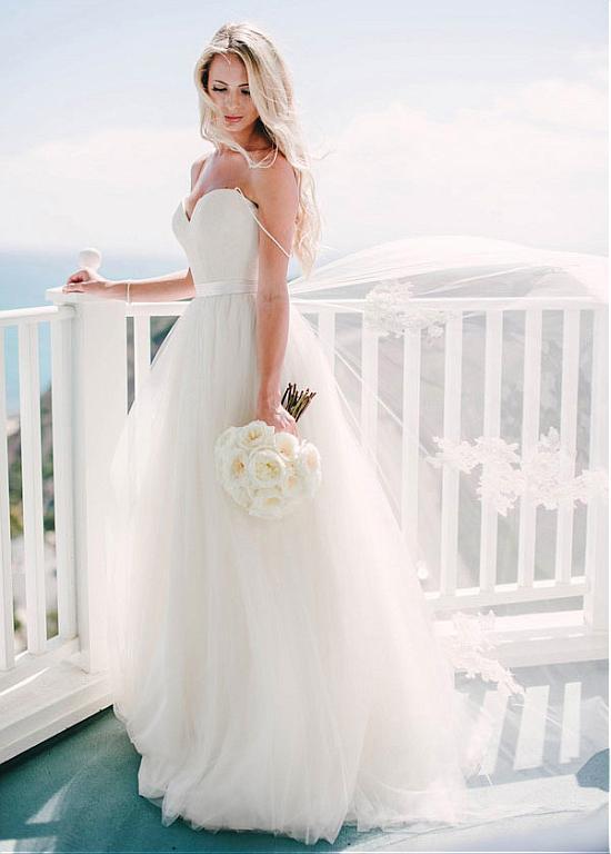 Spaghetti Straps Ivory Wedding Dress on Storenvy