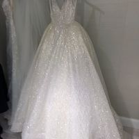 f324c2b3203 Sparkly V Neck White Long Prom Dress Ball Gown · wendyhouse · Online ...
