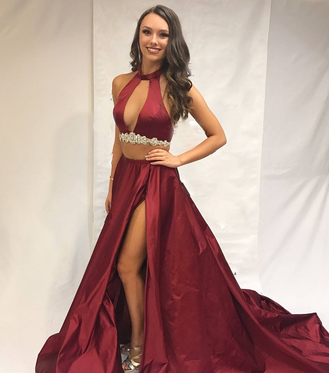97faf24f807 Two Pieces Prom Dress Sexy Prom Dresses 2 Piece Prom Gown on Storenvy