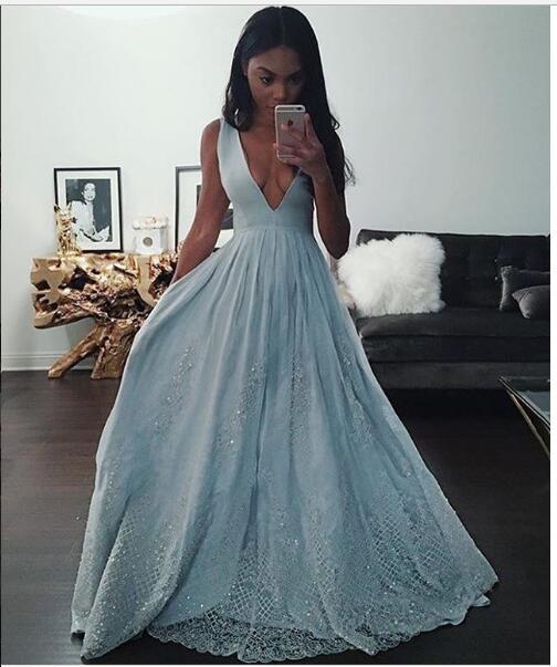 f4735370880 Sexy Baby Blue Prom Dress