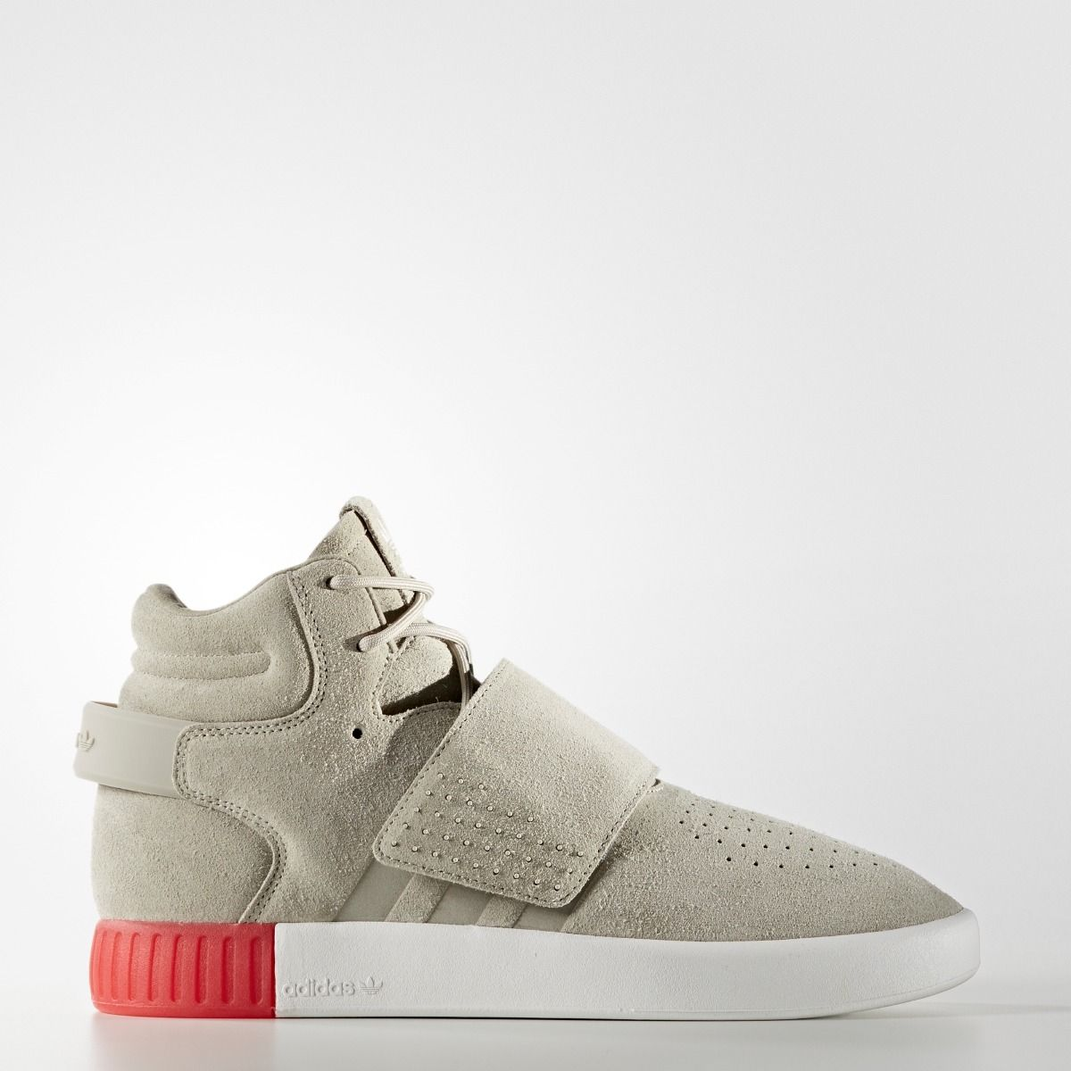 hot sale online 0c8b6 5d362 Adidas: Tubular Strap Invader (Sesame/ Vivid Red) from Stush Fashionista