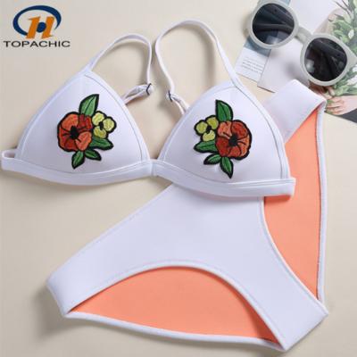 cc5b245701441 Free dhl shipping neoprene flower floral rose embroidered bikini -  Thumbnail 2