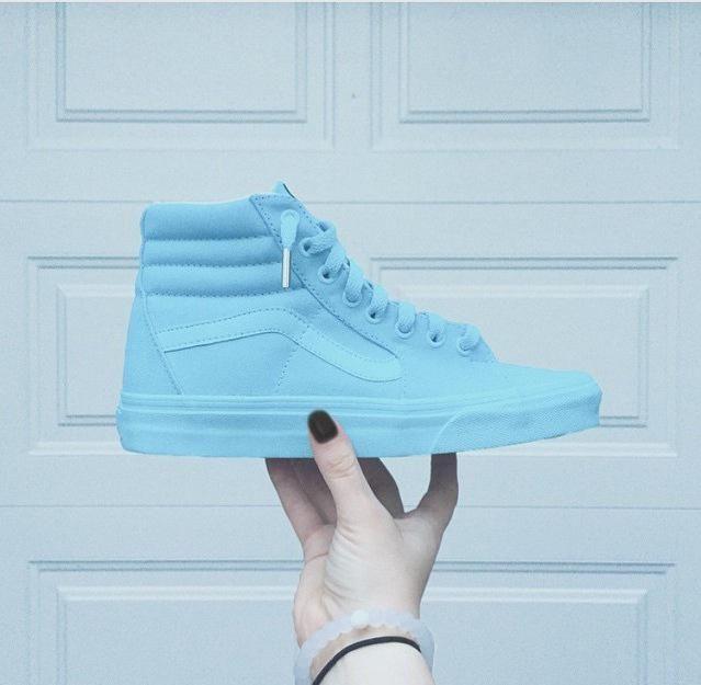 05ea05b1abdb Baby Sky All Blue Vans Sk8 Hi · SneakerSuperShop · Online Store ...