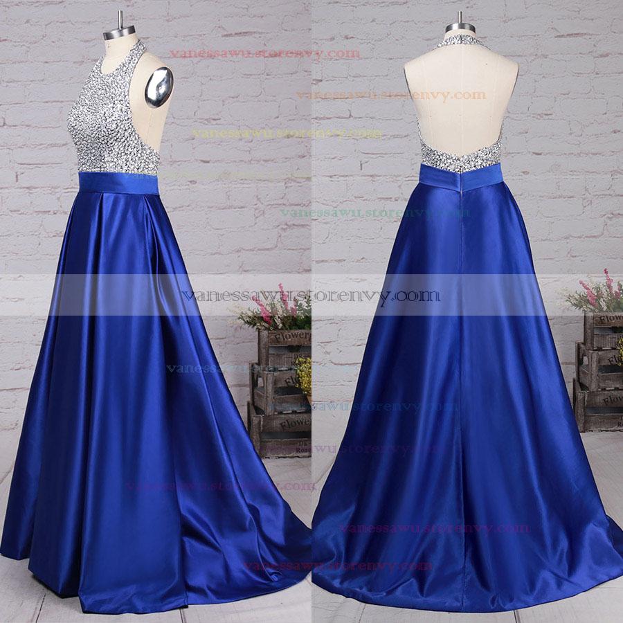 b0fb2b1dc3 Sparkly Blue Long Prom Dresses