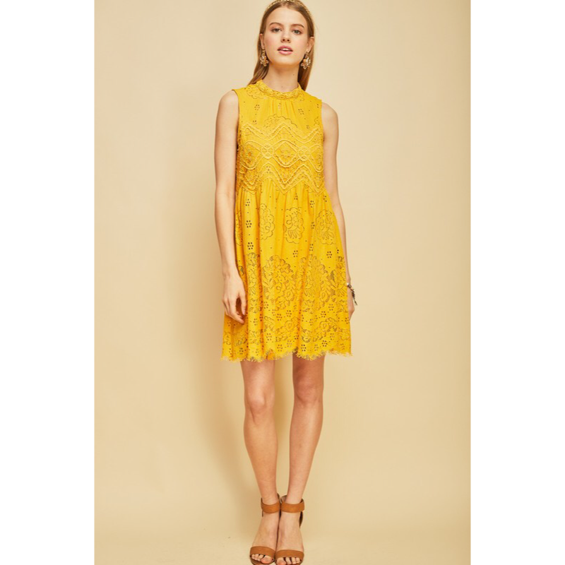 b2f0f5ffcbb Whimsical Mustard Lace Dress · Modas Inc. · Online Store Powered by ...