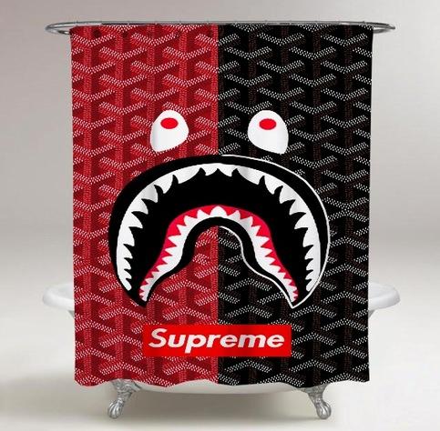 8110c43e91ba Supreme Bape Logo Print On Custom Shower Curtain Limited Edition on Storenvy