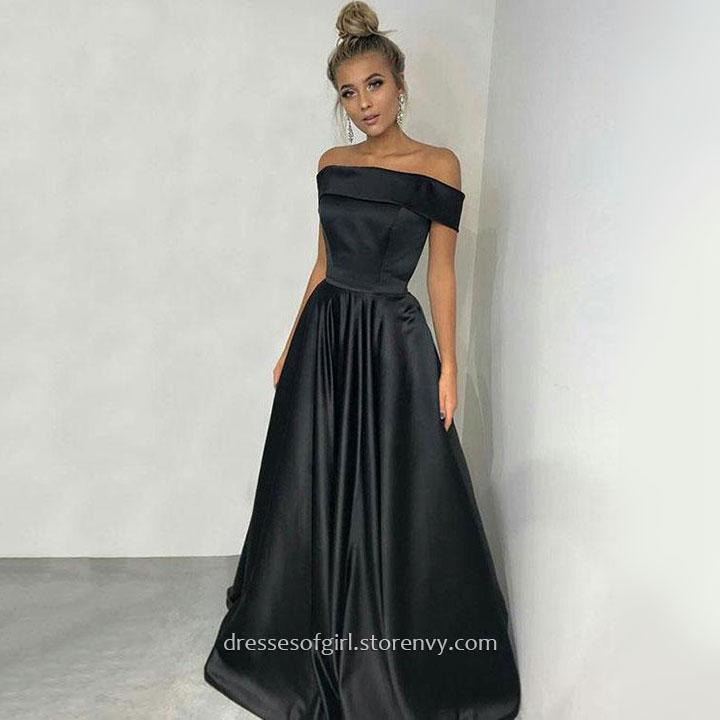 Cheap Prom Dressesa Line Off The Shoulder Long Formal Evening