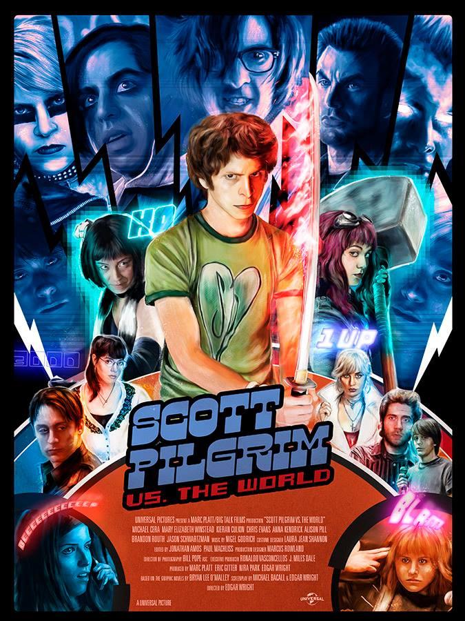 Scott Pilgrim vs. the World - Richard Davies · Movie Poster Empire ...