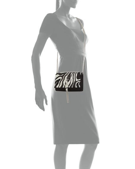 be46d85f6b7 Saint Laurent Kate Small Zebra Sequin Tassel Crossbody Bag · WorkHut ...